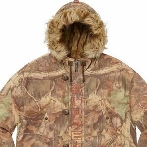 Supreme Spellout N-3B Parka Coat SIZE LARGE 💯Auth
